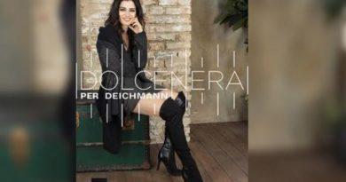 La cantautrice Dolcenera per Deichmann.
