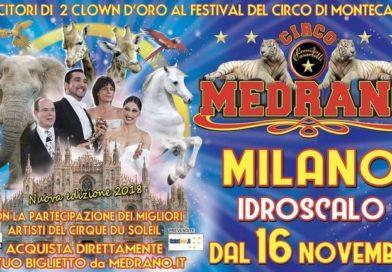 Circo Medrano:  in scena dal 16 novembre 2018 a Milano.