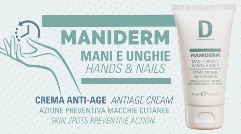 Mani e unghie idratate grazie a Maniderm.